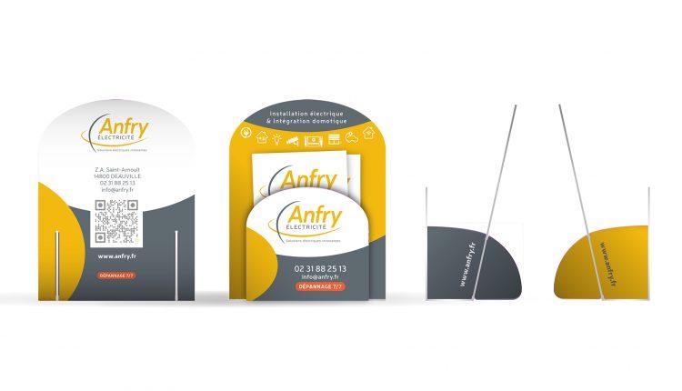 Cartes de visite pour la société Anfry électricité