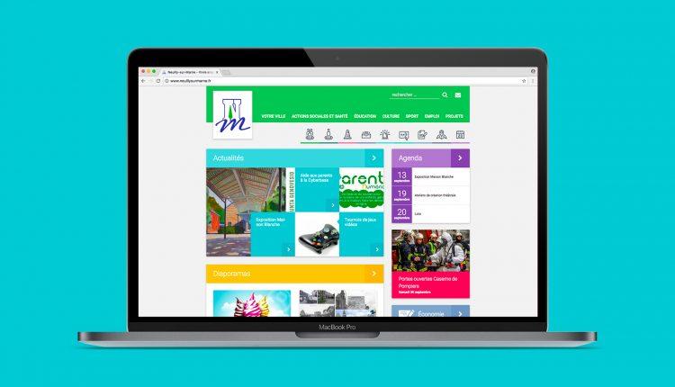 Le site internet de Neuilly-sur-Marne sur un ordinateur portable