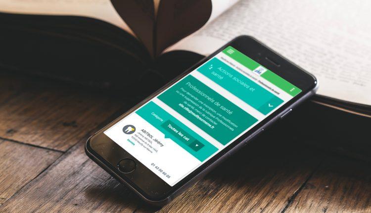 Le site internet de Neuilly-sur-Marne sur un smartphone