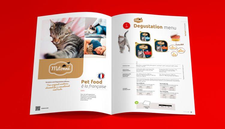 Intérieur de la brochure de Normandise Petfood