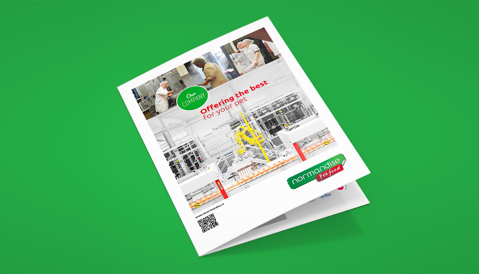 Couverture de la brochure sur Normandise Petfood