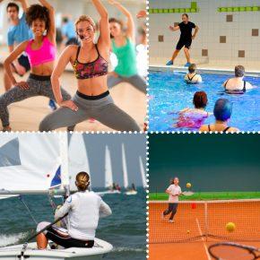 4 images de sports différents