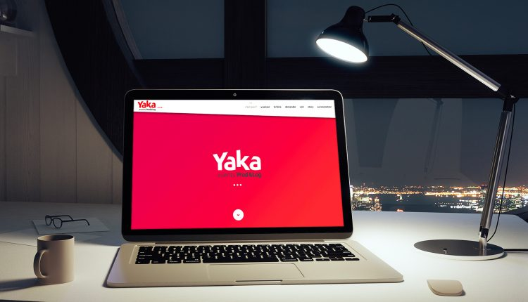 Site internet de Yaka sur un ordinateur portable